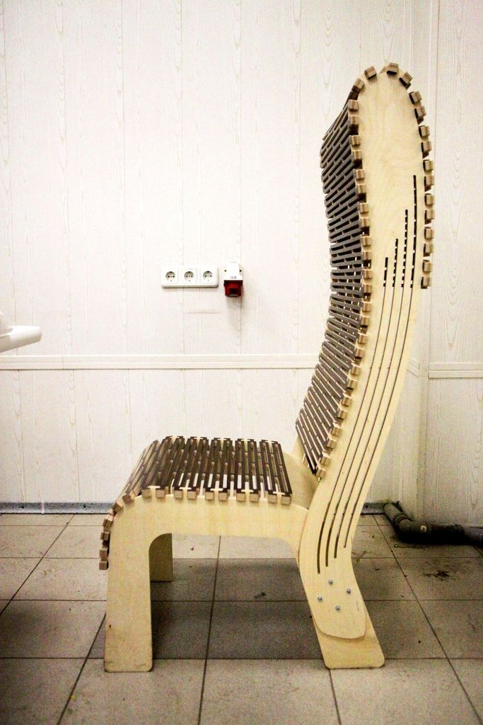 Live Hinge Chair By Latkinfetter Living Hinge Cnc