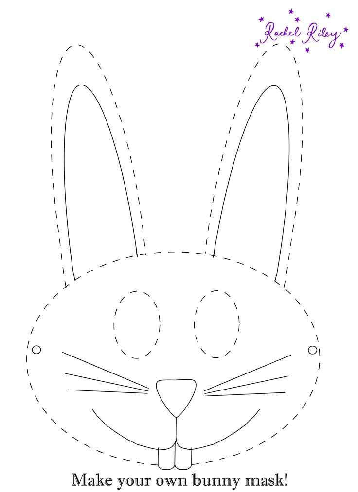 Rachel riley activity bunny mask print out and make for Easter bunny hat template