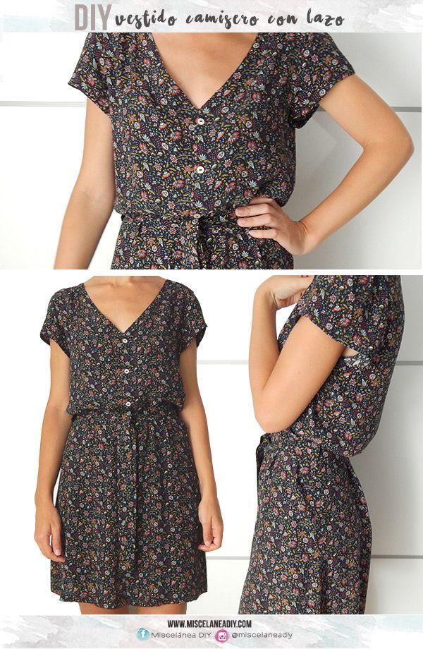 DIY sewing   Vestido camisero   Shirtdress                                                                                                                                                                                 Más