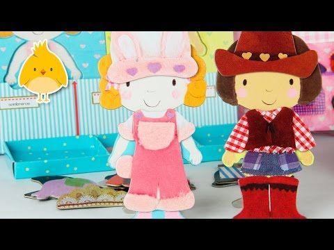 ❤ El Armario de Lili y Lola ❤ Libro de juegos para vestir a las muñecas - YouTube