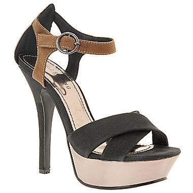 call it bost colorblock high heel sandals