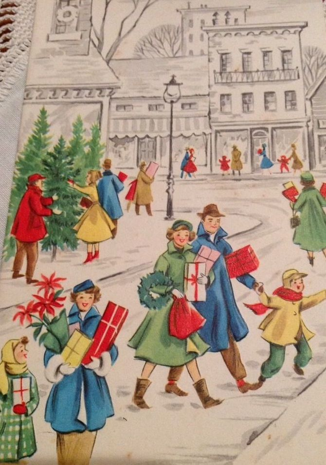 1303 best vintage christmas images images on pinterest Christmas card scenes to paint