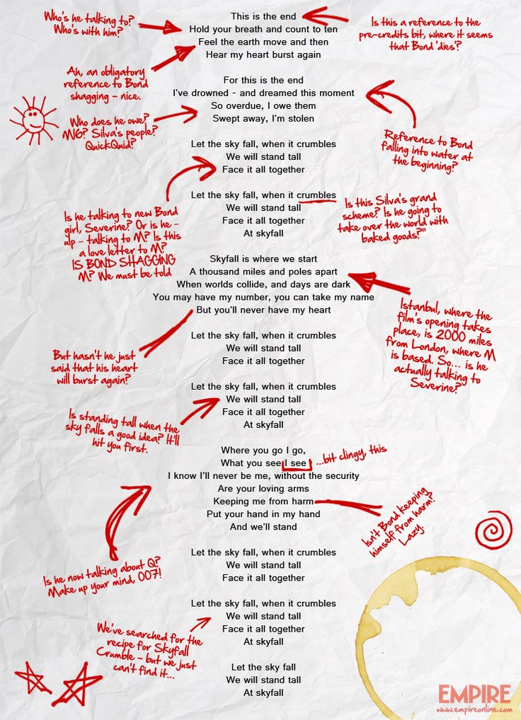 Adele's Skyfall Lyrics Decoded   Features   Empire #skyfall #jamesbond #adele