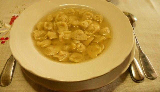 Cappelletti in brodo - my grandmother used to make them by hand from scratch, including the broth for Christmas.: Italian Cuisine, Hand, Mom S Cappelletti, Grandmother