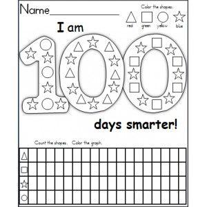100 Days Shape Graph - Made By Teachers