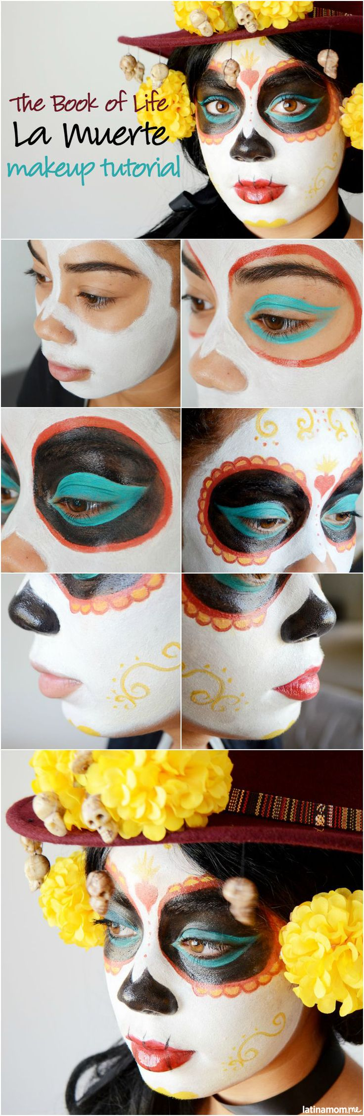 La Muerte-Inspired Makeup Tutorial - Latina Mom Tips & Advice   mom.me by TheArtMuse #LatinaBloggers