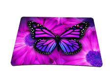 Purple Butterfly Anti-Slip Optical Laser Mouse Mice Pad Mat Mouse pad Mousepad