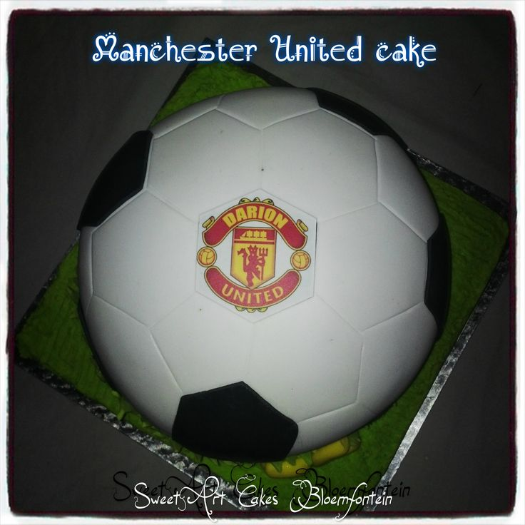 Manchester United Cake.  For more information & orders, Email SweetArtBfn@gmail.com or call/whatsapp 0712127786 Lola