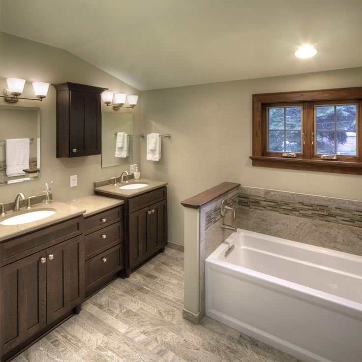 162 best bathrooms images on pinterest cabinet colors for Bath remodel green bay wi