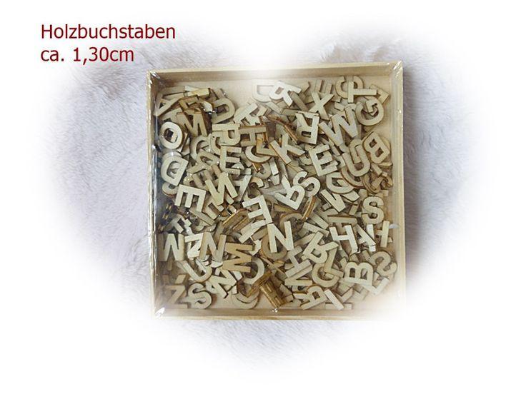 Holzstreuteile ABC Buchstaben aus Holz  von Die Geschenkidee auf DaWanda.com