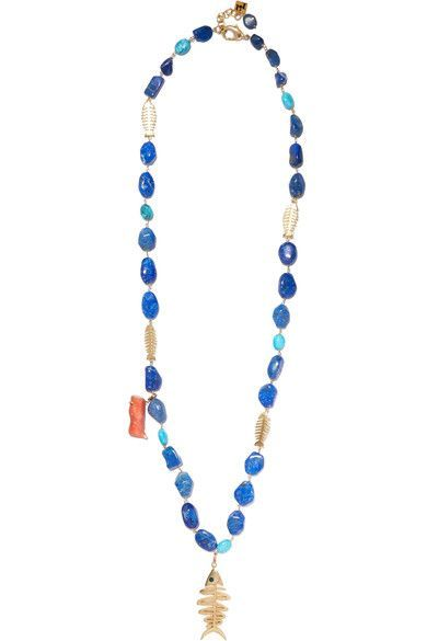 Using stones in the necklace is an interesting route, would help the charm blend in and look even more like jewelry.
