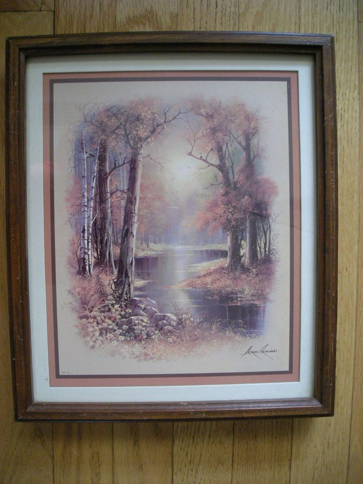 Home Interior By Andres Orpinas Vintage A Creek Between The Trees Box Frame