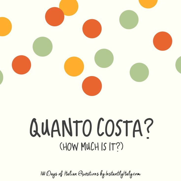 48/100 - 100 Days of Italian Questions on Instagram