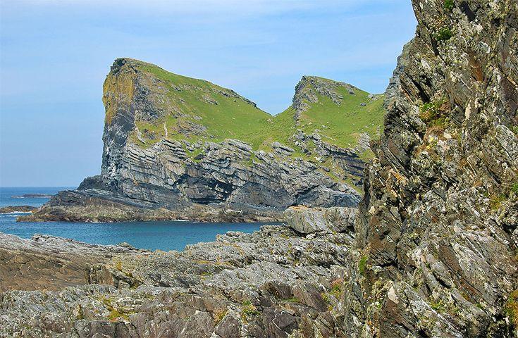 Steep cliffs on Islay's west coast