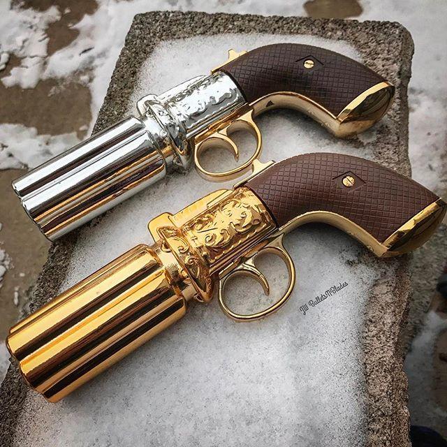 #pepperbox #decanter #retrolife #retrocollector #nra #1970s #retrostyle #oldschool #gunculture #vintageshit #pistola