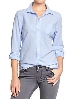 Womens Oxford Shirts in new blue // $24.94
