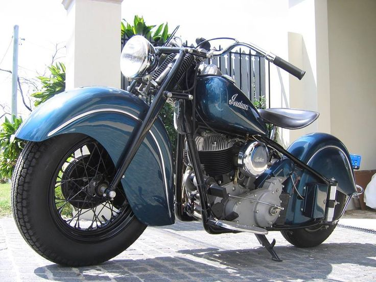 Bad Sapphire Blue 1947 Indian Chief Motorcycle