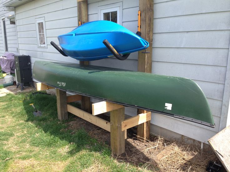 DIY Canoe and Kayak rack