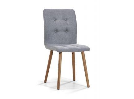 Mugav ja pehme Elise tool on kaetud kvaliteetse halli kangaga, tooli jalad on tammepuidust. Maksimaalne kandevõime 110 kg. Tooli katteriie pole eemaldatav.    Tool sobibhästi Elise söögilaua juurde. NB! Laua jalad on heledamas toonis kui toolil!    Vaata ka Elise kummutit.