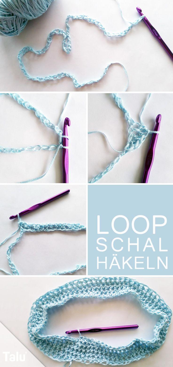 Kostenlose Anleitung für Anfänger - Loop-Schal häkeln - Talu.de