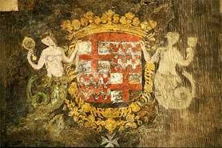 The Coat of Arms of Warsaw features a siren (identified in Polish as a syrenka) She is the water-spirit from the Vistula who identified the proper site for the city to Boreslaus of Masovia in the late 13th century. Equivalent of Melusine European folkloric feminine spirit of fresh waters in sacred springs and rivers. - a woman who is a serpent or fish from the waist down (mermaid), sometimes with wings, two tails or both. Used as a heraldic figure, typically in German Coats of arms +scaly…