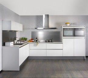 Van met and link on pinterest - Model keuken wit gelakt ...