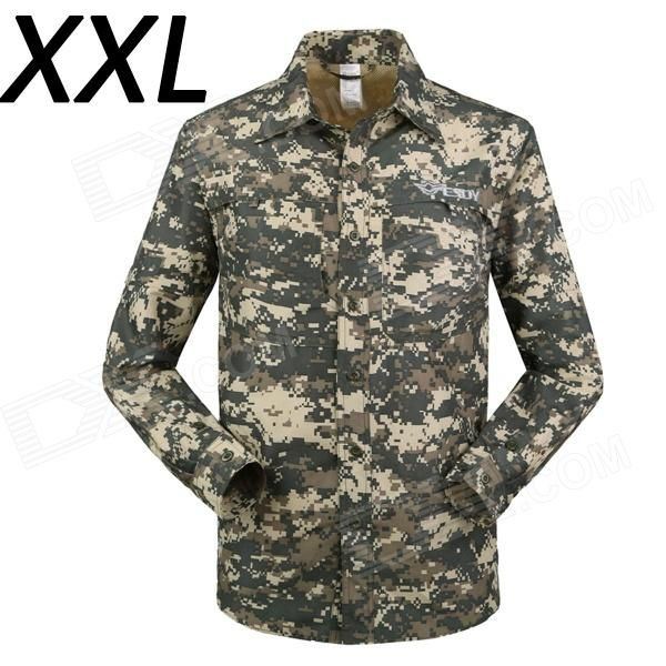 Color: ACU; Size: XXL; Brand: ESDY; Model: ESDY-631; Quantity: 1 Piece; Material: Polyester; Shade Of Color: Multi-color; Seasons: Spring and Summer; Gender: Men's; Shoulder Width: 55 cm; Chest Girth: 120 cm; Sleeve Length: 65 cm; Total Length: 82 cm; Suitable for Height: 180-185 cm; Best Use: Climbing,Backpacking,Mountaineering,Travel; Suitable for: Adults; Packing List: 1 x Shirt; http://j.mp/1lkxMOG