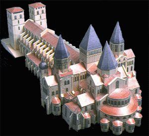 Abadía de Cluny III, Francia (Románica) Era más grande que la Basílica de San Pedro. Abadía quiere decir monasterio.