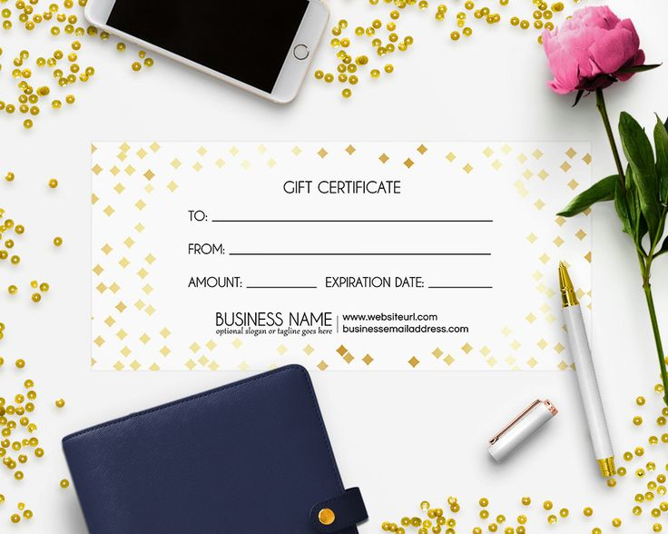 Gift Certificate Printable - Gift Certificate Download - Printable Gift Certificate - Gift Card -  Gift Certificate Design - Audrey by RhondaJai on Etsy