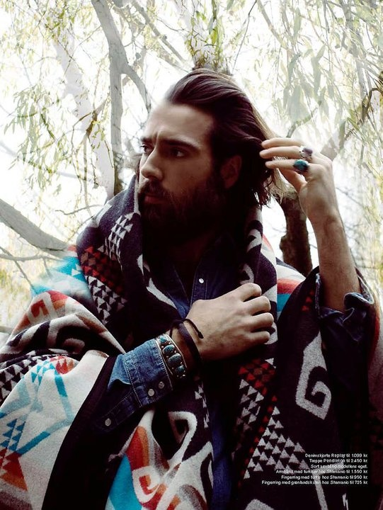 #1 His long hair and natural bohemian/gypsy style would be a great addition to www.gypsygarage.com