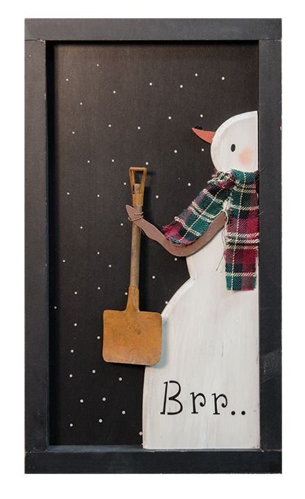 KP Creek Gifts - BRR Snowman Window Box