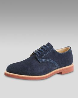 Walk-Over Shoes Suede Derby, Navy