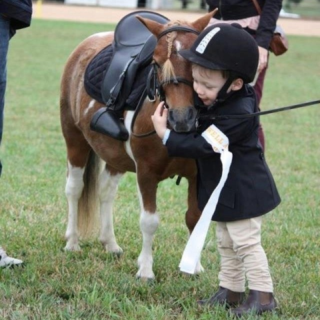 Let's be completely honest, this had better be my future kid and pony or I'm gonna be seriously disappointed. My two favorite things: ponies and precious boy babies in grown-up clothes, and they're hugging!