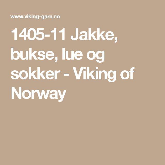 1405-11 Jakke, bukse, lue og sokker - Viking of Norway