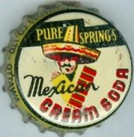 Pure Spring's Mexican Cream Soda, bottle cap | Pure Spring Co., Ottawa, Ontario, Canada | One sold on eBay 1/2012 for $26.75.