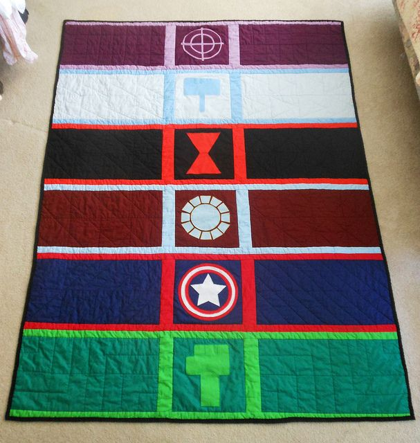 Avengers Quilt front | Flickr - Photo Sharing!