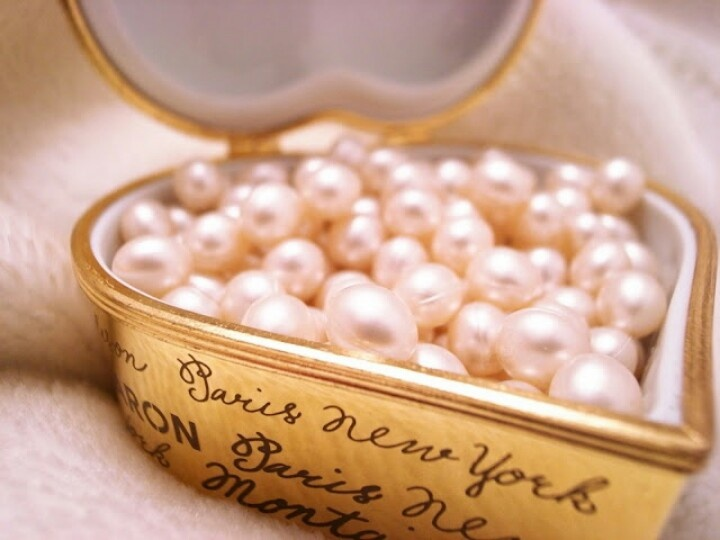 Heart filled with pearls