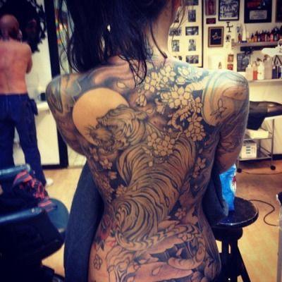 full back tattoo | Tumblr