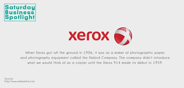 The history of Xerox…