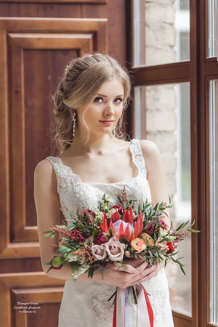 Букет невесты с протеей. Флорист Пашкова Ольга #букет #букетневесты #букетспротеей #свадебныйбукет #bouquet #bride