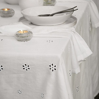 Broderie Anglaise Tablecloth | The White Company