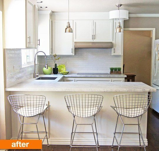 How I Love kitchen makovers! Before & After: A Compact, Updated Kitchen for a Family of 5 — Professional Project | Apartment Therapy