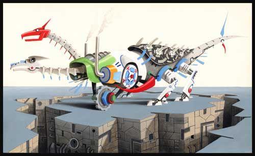 """Biagio Forgione illustrazione """"drago meccanico"""""""