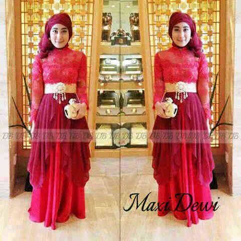 maxidress dewi red