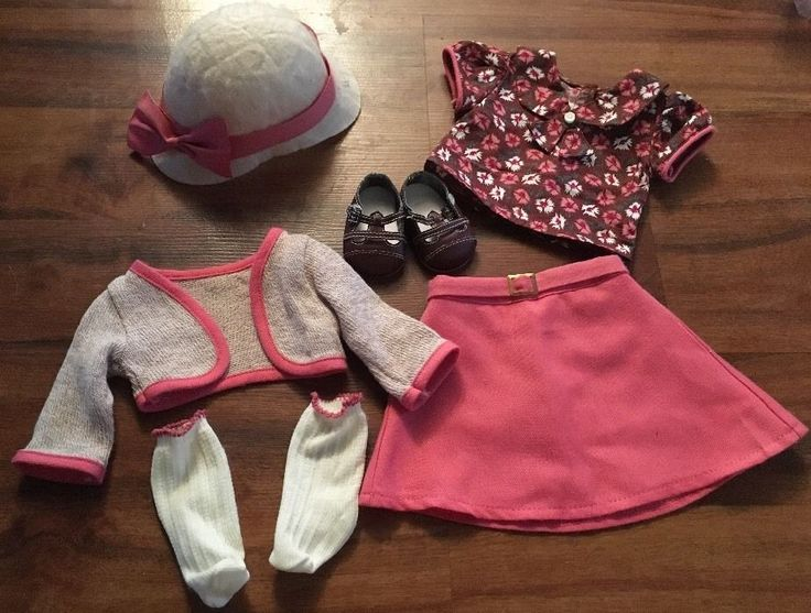 American Girl Doll Kit School Skirt Outfit Set Complete Euc Current Version #AmericanGirl #ClothingShoes