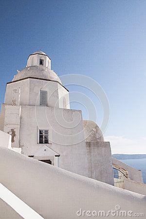Agios Minas in Fira, Santorini #oia #santorini #greekvillage #greece #bluedomes