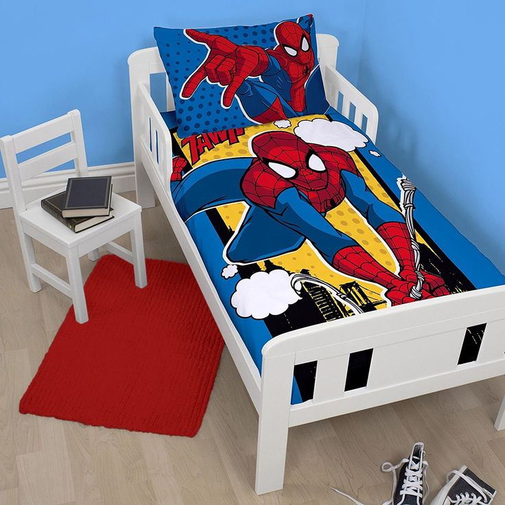 Spiderman Webhead Junior/Toddler Duvet Cover and Pillowcase Set //Price: $15.76 & FREE Shipping //     #hashtag4
