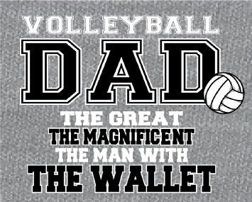 """""""Volleyball DAD"""" - Volleyball T-Shirt - Les needs this shirt!"""