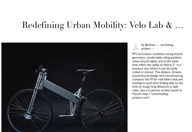 Redefining Urban Mobility: Velo Lab & folding-project.com