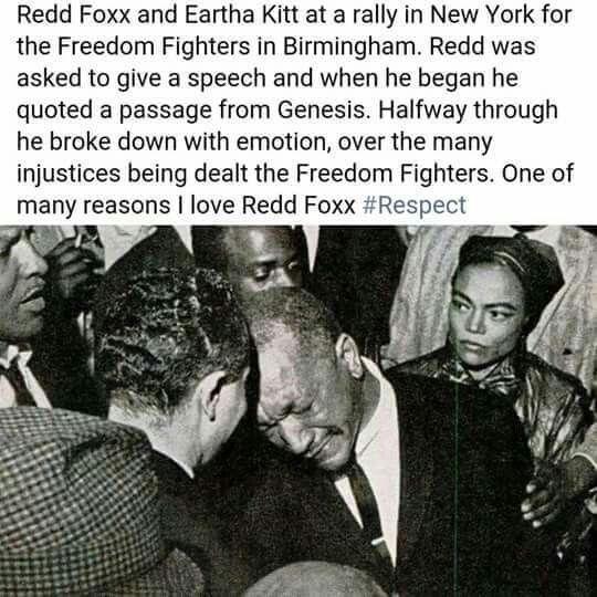 Redd Foxx and Eartha Kitt